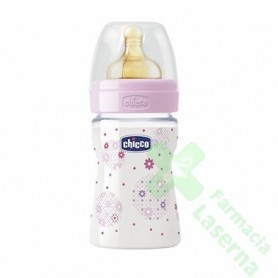 BIBERON CHICCO CAUCHO FISOLOGICO NORMAL 150 ML