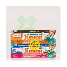 DUPLO GEL DENTIFRICO FLUOR KIN JUNIOR