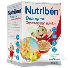 NUTRIBEN DESAYUNO COPOS DE TRIGO CON FRUTAS 750G