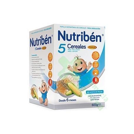 NUTRIBEN PAPILLA 5 CEREALES FIBRA 600G