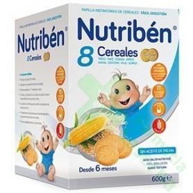 NUTRIBEN PAPILLA 8 CEREALES GALLETAS MARIA 600G