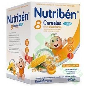 NUTRIBEN 8 CEREALES MIEL CALCIO 600G