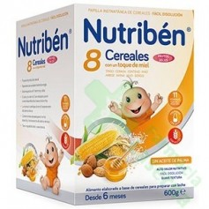 NUTRIBEN 8 CEREALES MIEL FRUTOS SECOS 600G