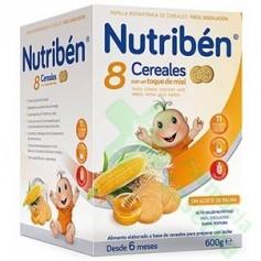 NUTRIBEN 8 CEREALES MIEL GALLETAS 600G