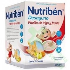 NUTRIBEN DESAYUNO PAPILLA DE TRIGO CON FRUTA 600G