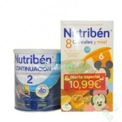 NUTRIBEN 8 CEREALES Y MIEL + NUTRIBEN CONTINUCION (PACK PROMOCIONAL)
