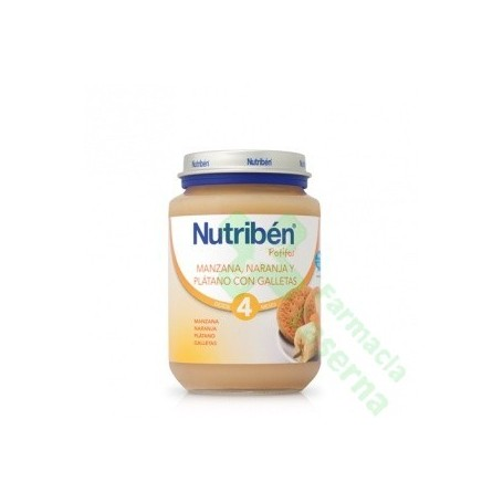 NUTRIBEN JUNIOR NARANJA PLATANO GALLETA 200 G