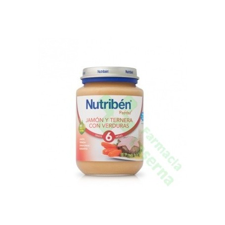 NUTRIBEN JUNIOR JAMON TERNERA VERDURA 200 G
