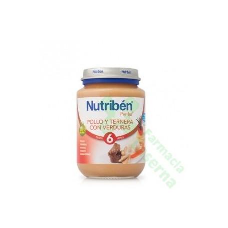 NUTRIBEN JUNIOR POLLO TERNERA VERDURAS 200 G