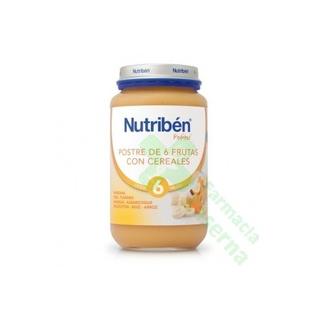 NUTRIBEN POSTRE FRUTAS CEREREALES 250 G