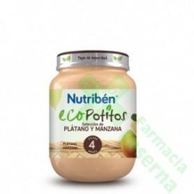 NUTRIBEN ECO SELECCION PLATANO Y MANZANA POTITO 130 G
