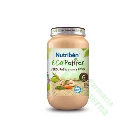 NUTRIBEN ECO SELECCION VERDURAS DE HUERTA CON PAVO 250 G
