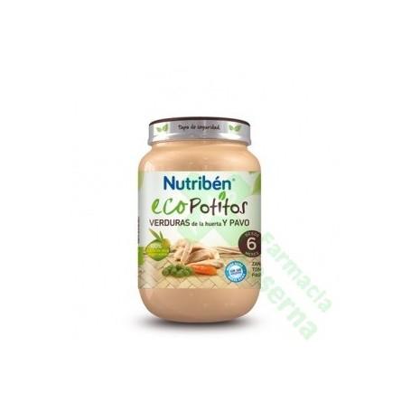 NUTRIBEN ECO SELECCION VERDURAS DE HUERTA CON PAVO 200 G