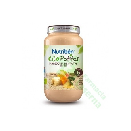 NUTRIBEN ECO MACEDONIA DE FRUTAS SELECTAS POTITO 250 G