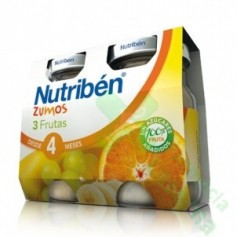 NUTRIBEN ZUMO 3 FRUTAS 2X130G