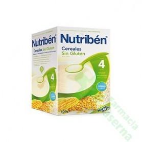 NUTRIBEN CEREALES SIN GLUTEN PAPILLA 600G 2 UDS