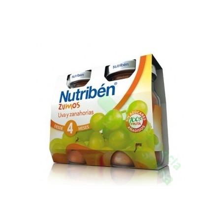 NUTRIBEN ZUMO UVA ZANAHORIA 2X130G