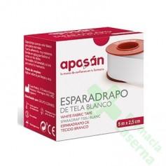ESPARADRAPO APOSAN TELA BLANCO 5 X 2'5 CM