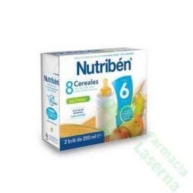 NUTRIBEN 8 CEREALES FRUTAS 2X250 ML