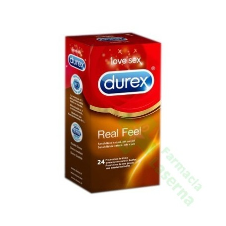 DUREX REAL FEEL PRESERVATIVO SIN LATEX 12 UDS