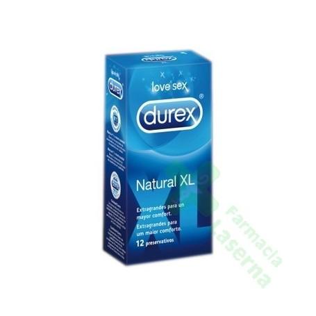 PROFILACTICO DUREX NATURAL XL 12 UDS
